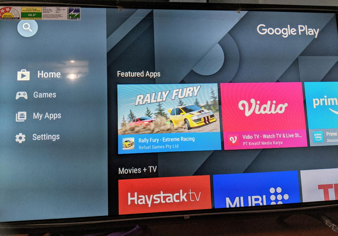 Google Play Store in MI TV 4A