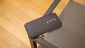 Moto G3 2015 Back Side on the Glass Table