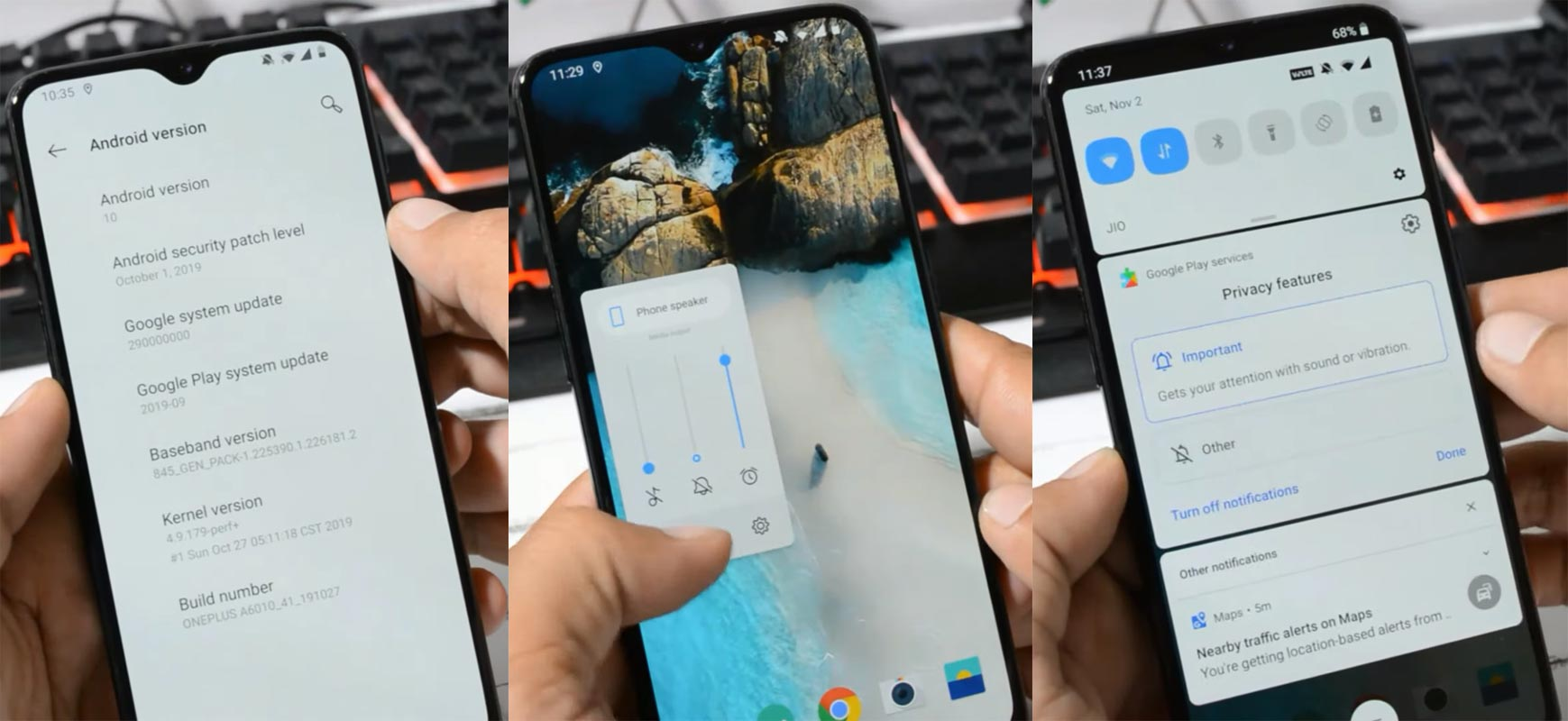 OnePlus 6T Android 10 Screenshots