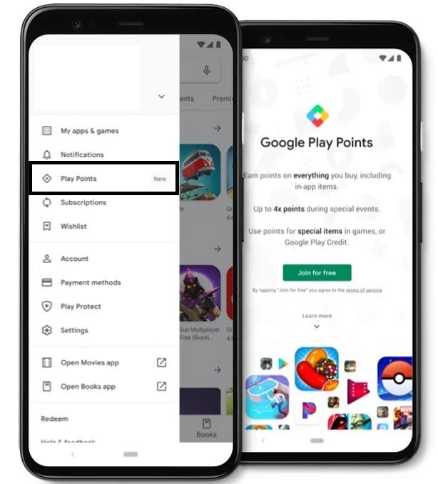 Play Store Points Program Enable