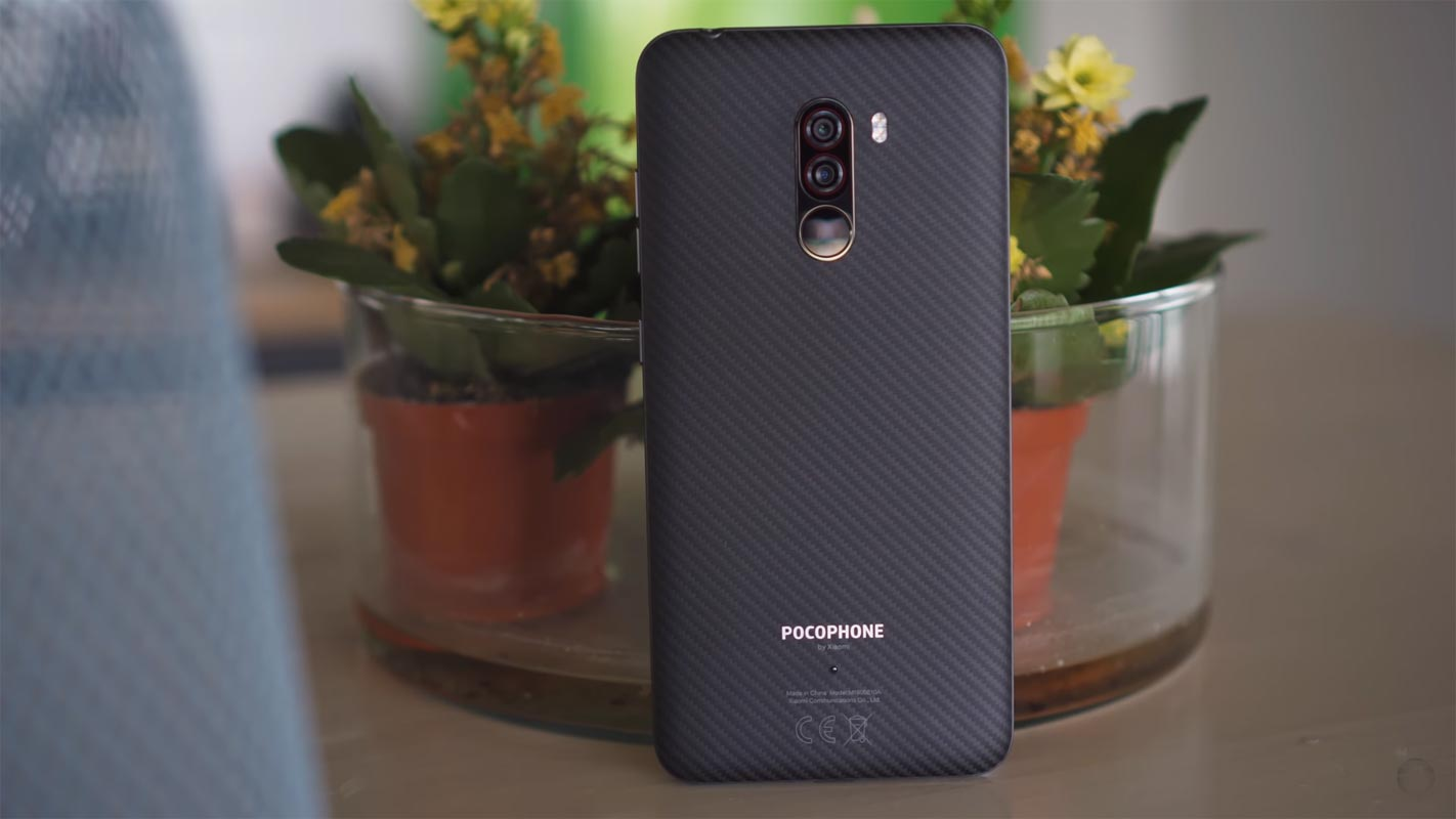 Pocophone F1 with Small Glass Flower Vase