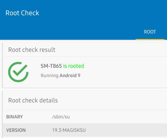 Root Checker Result Tab S6