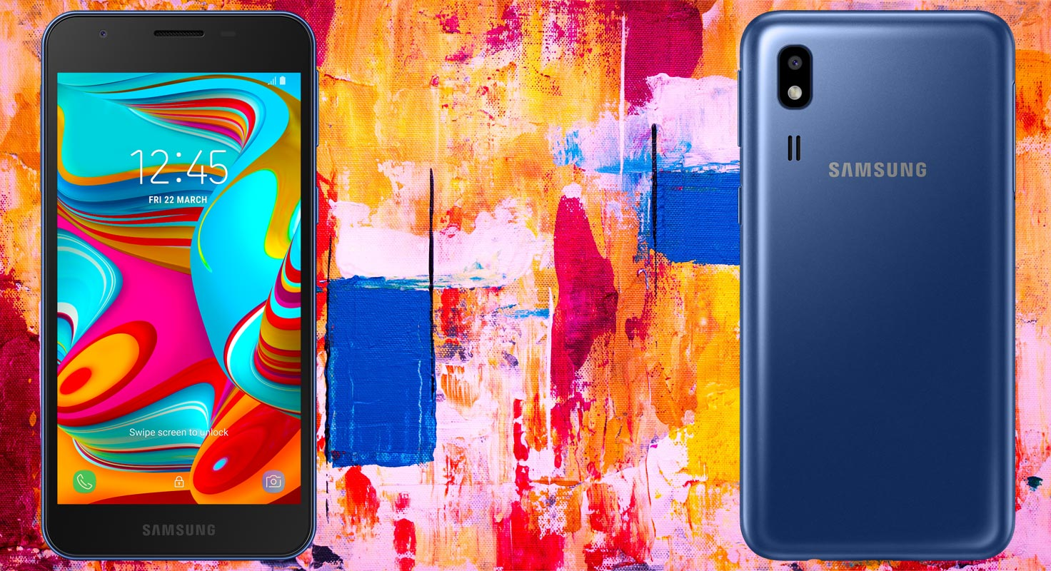 Samsung Galaxy A2 Core with Painting Background