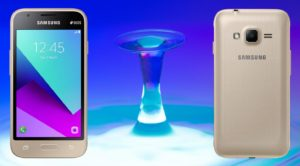 Samsung Galaxy J1 mini prime with Blue Water Drop Background