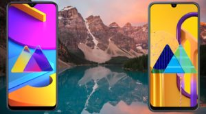 Samsung Galaxy M10s and M30s With Mountain Reflection Background