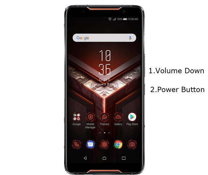 Asus ROG Phone Recovery Mode Keys