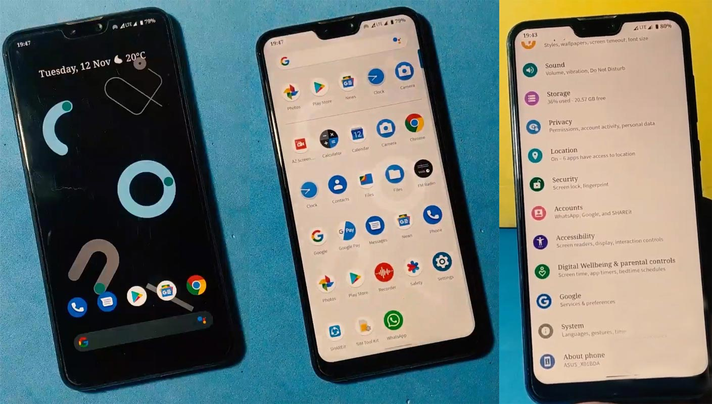 Asus Zenfone Max Pro M2 Pixel Experience Android 10 Screenshots