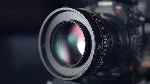 DSLR Camera Lens Measures Focus