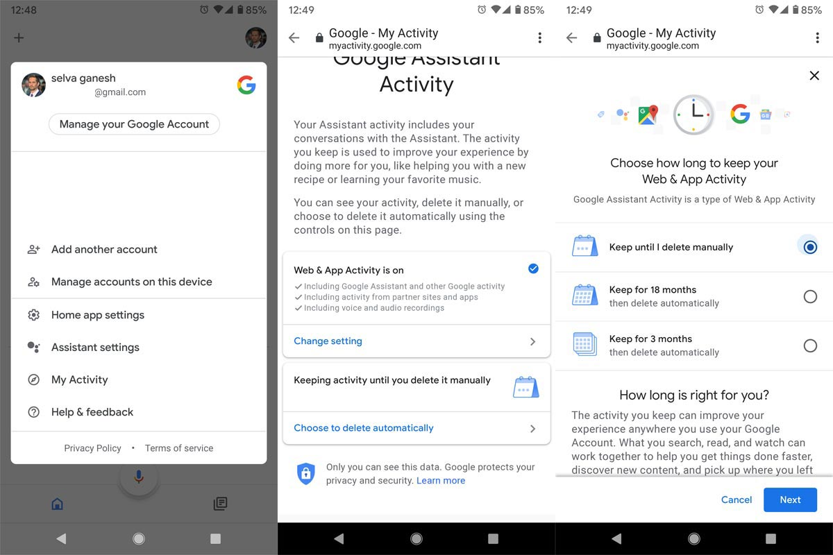 Delete Google Assistant Data Automatically From Google Home App