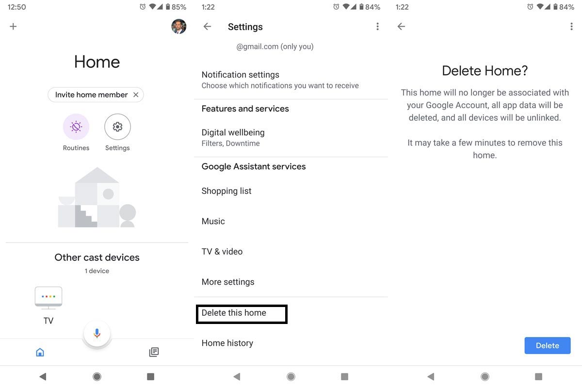 Delete Google Home From Your Account