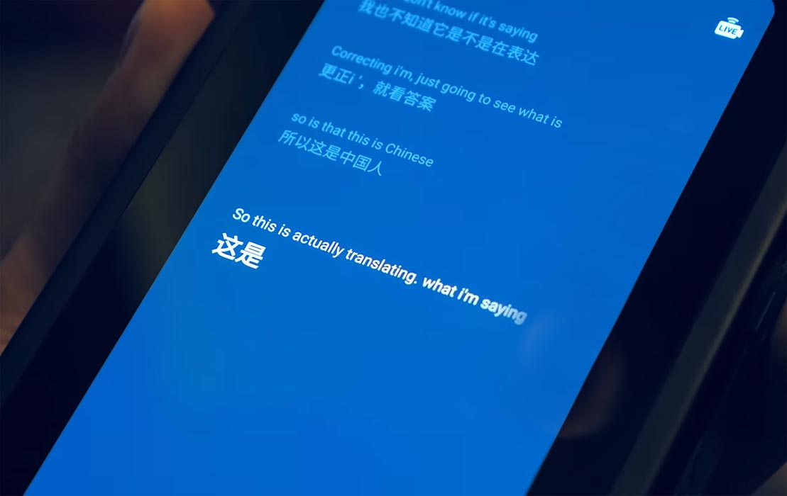 Device In-Built Translator Snapdragon 865