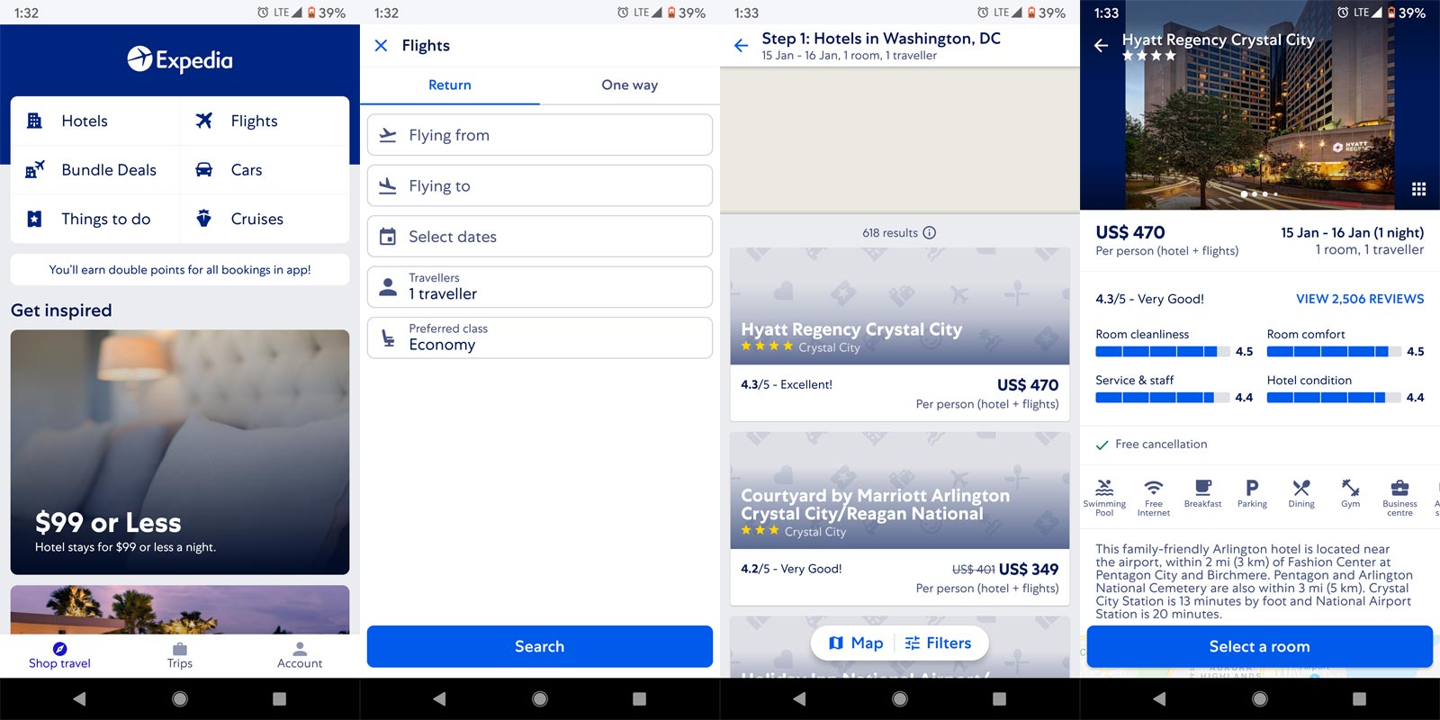 Expedia App Screenshots