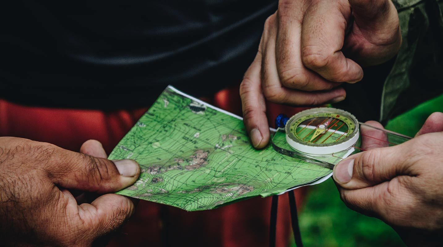 Guiding on Map With Compass