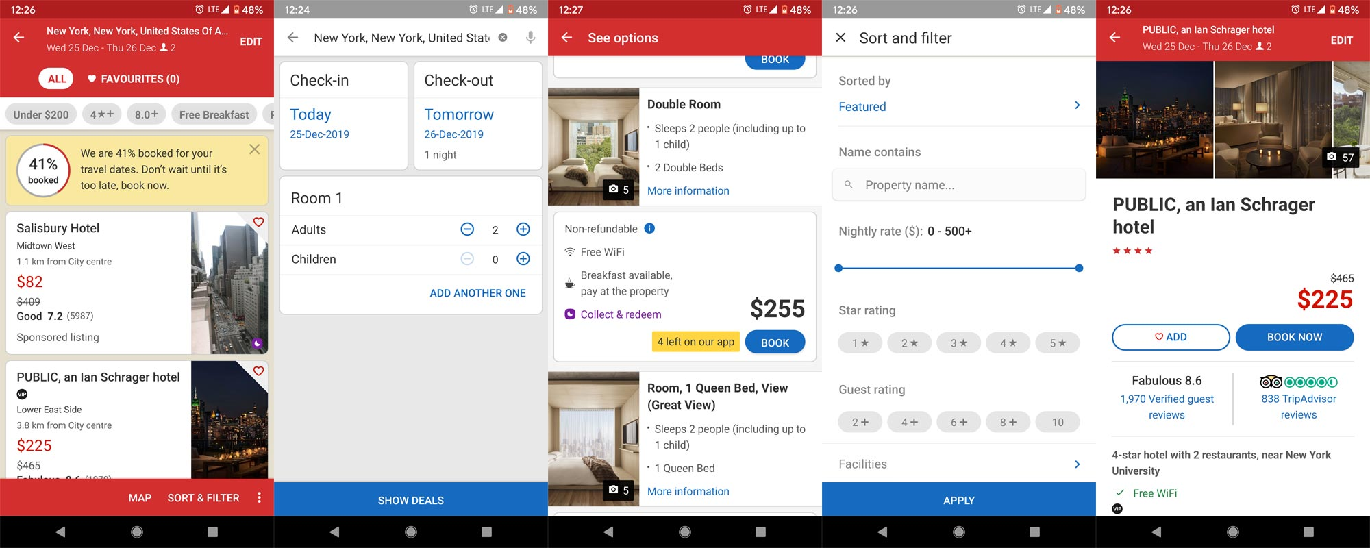 Hotels.com App Screenshots