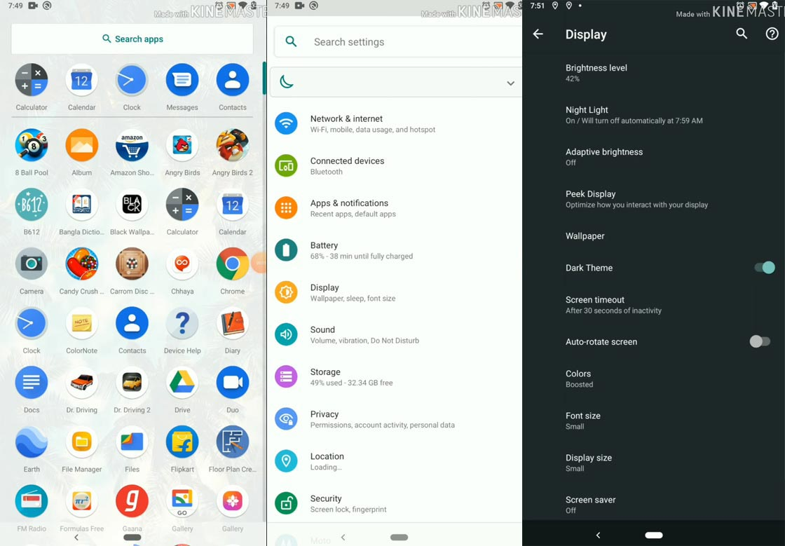 Android 10 Firmware Details Screenshot Moto One Power