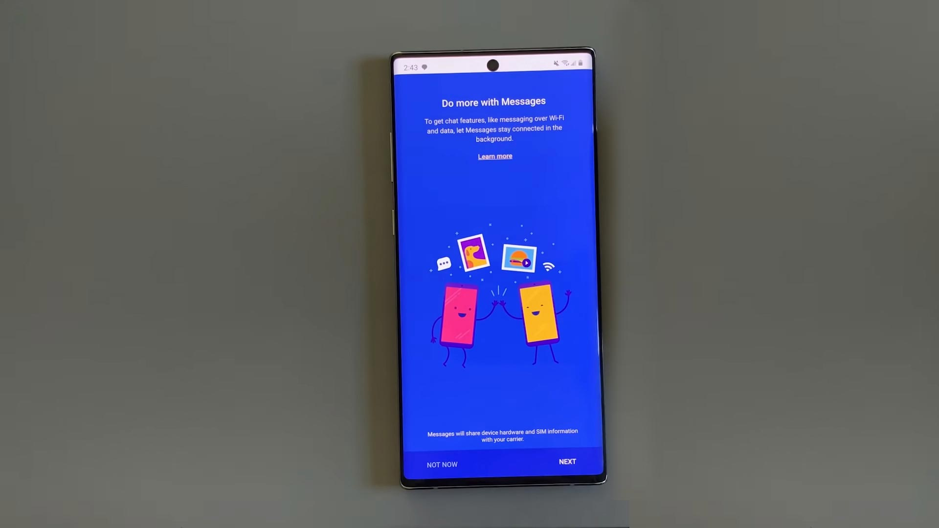 RCS Messaging App on the Galaxy Note 10