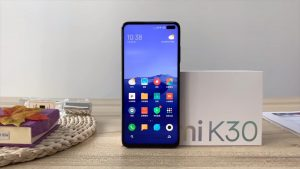 Redmi K30 5G on the Table in Standing Position