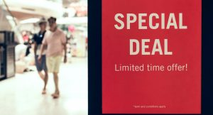 Special Deal Board in Mall