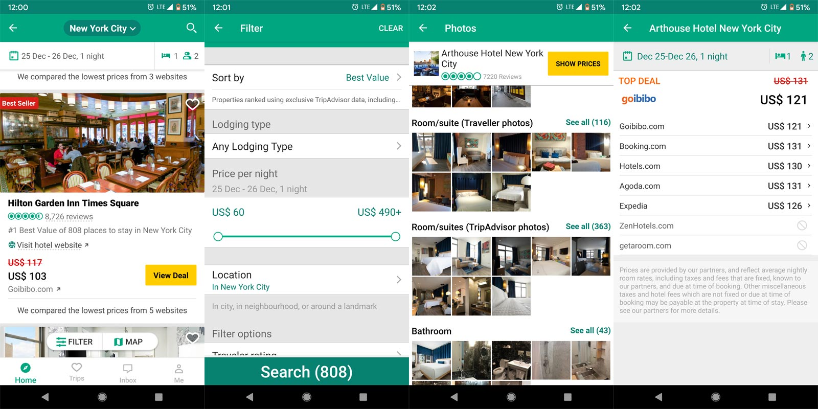 Tripadvisr Hotel Booking App Screenshots