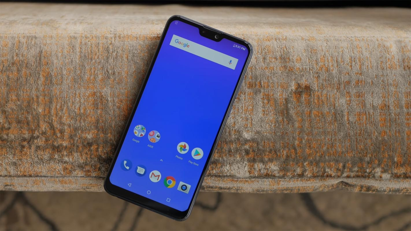 asus zenfone max pro m2 in the iron surface