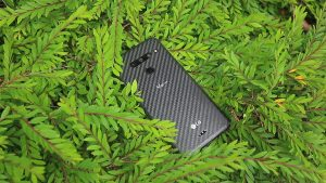 LG V50 ThinQ on the Green Leaves