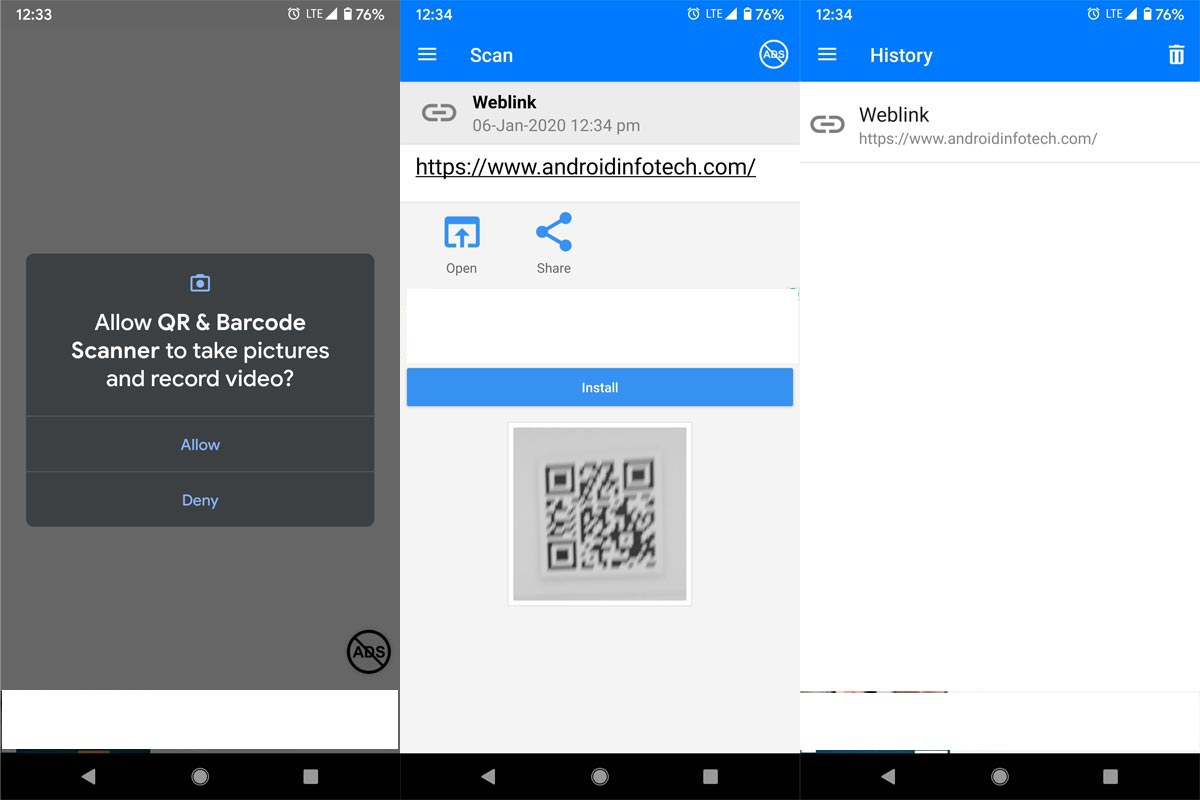 QR & Barcode Scanner App Screenshots