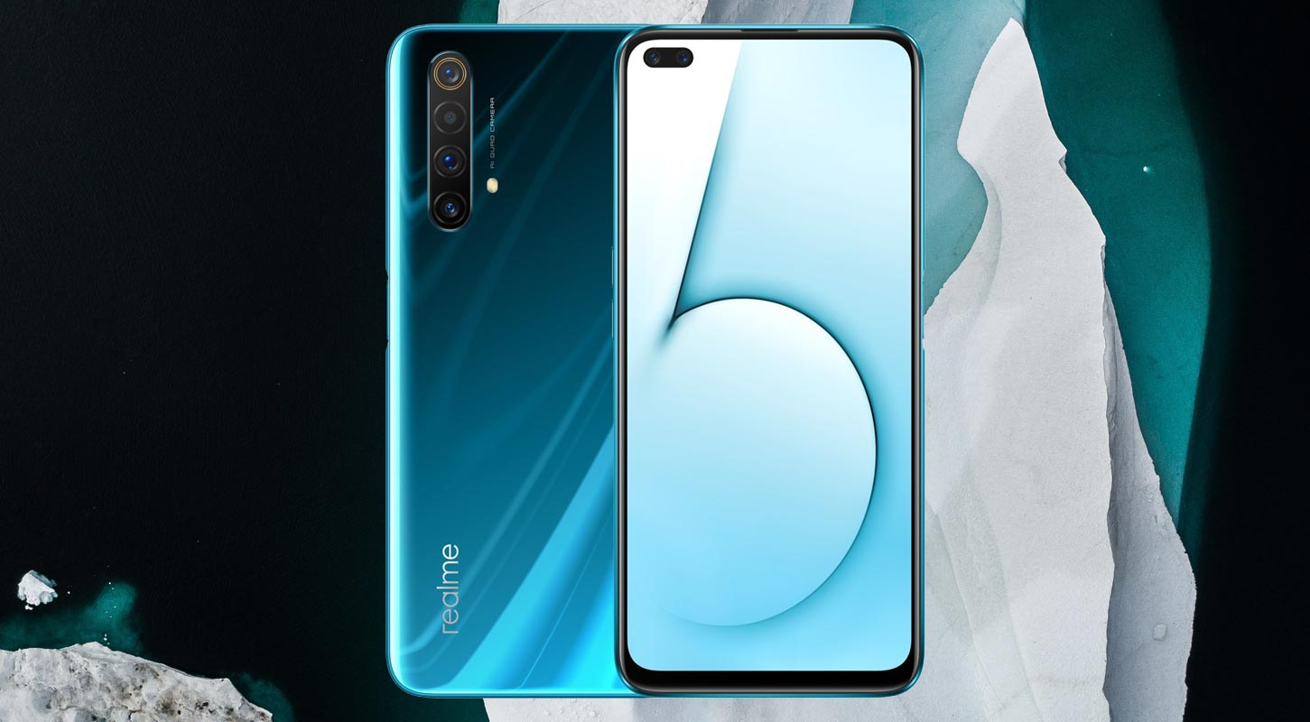 Realme X50 5G with Ice Mountain Background