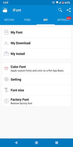 Remove iFont Android