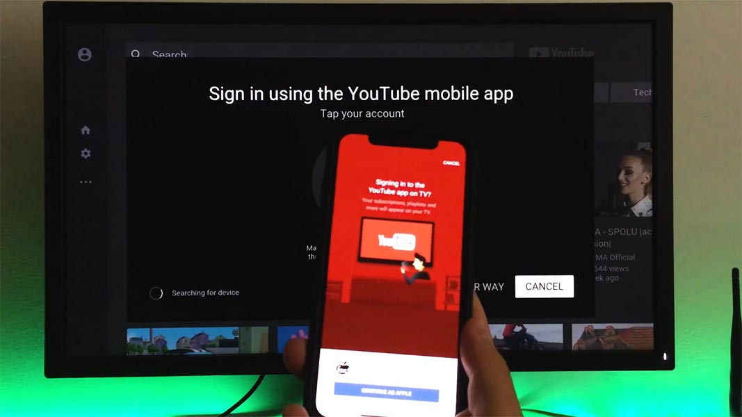 Sign in Youtube App Apple TV