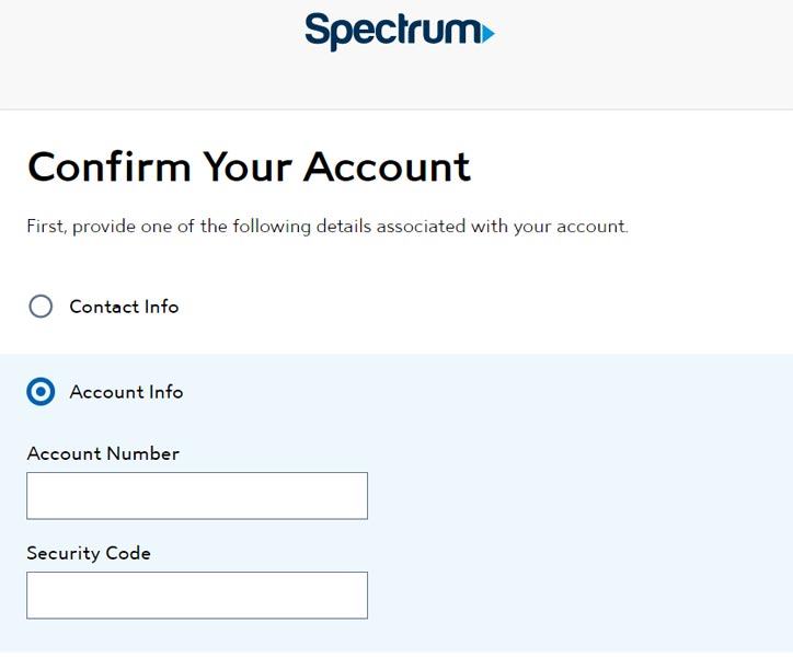Spectrum Email Username Creation