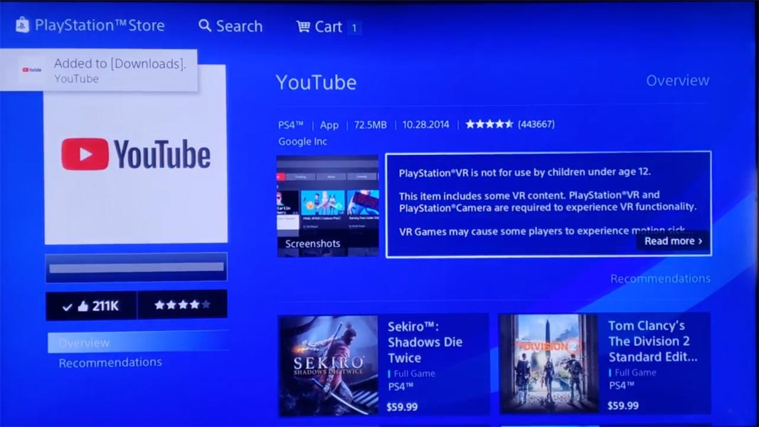 Youtube App Playstation