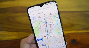 Google Maps Opened in Phone