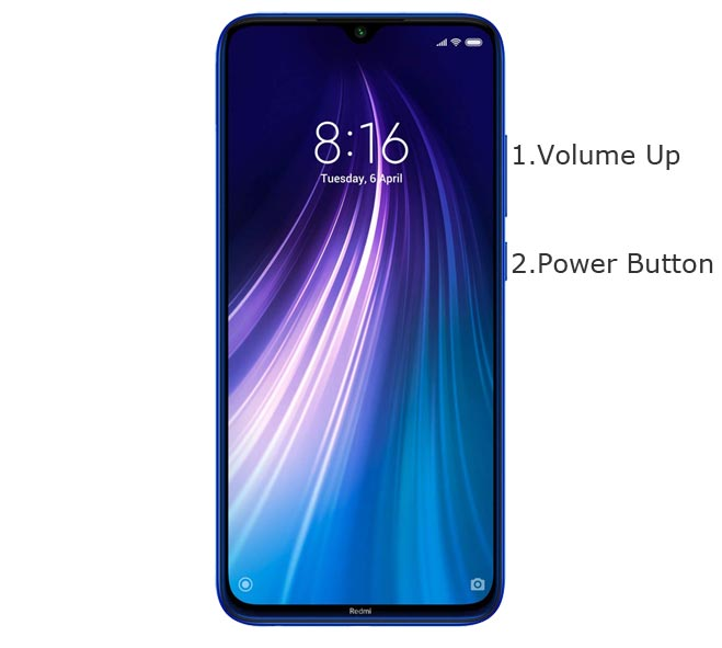 Redmi Note 8 Recovery Mode