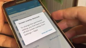 Screen Overlay Detected Error in Samsung Galaxy Mobile