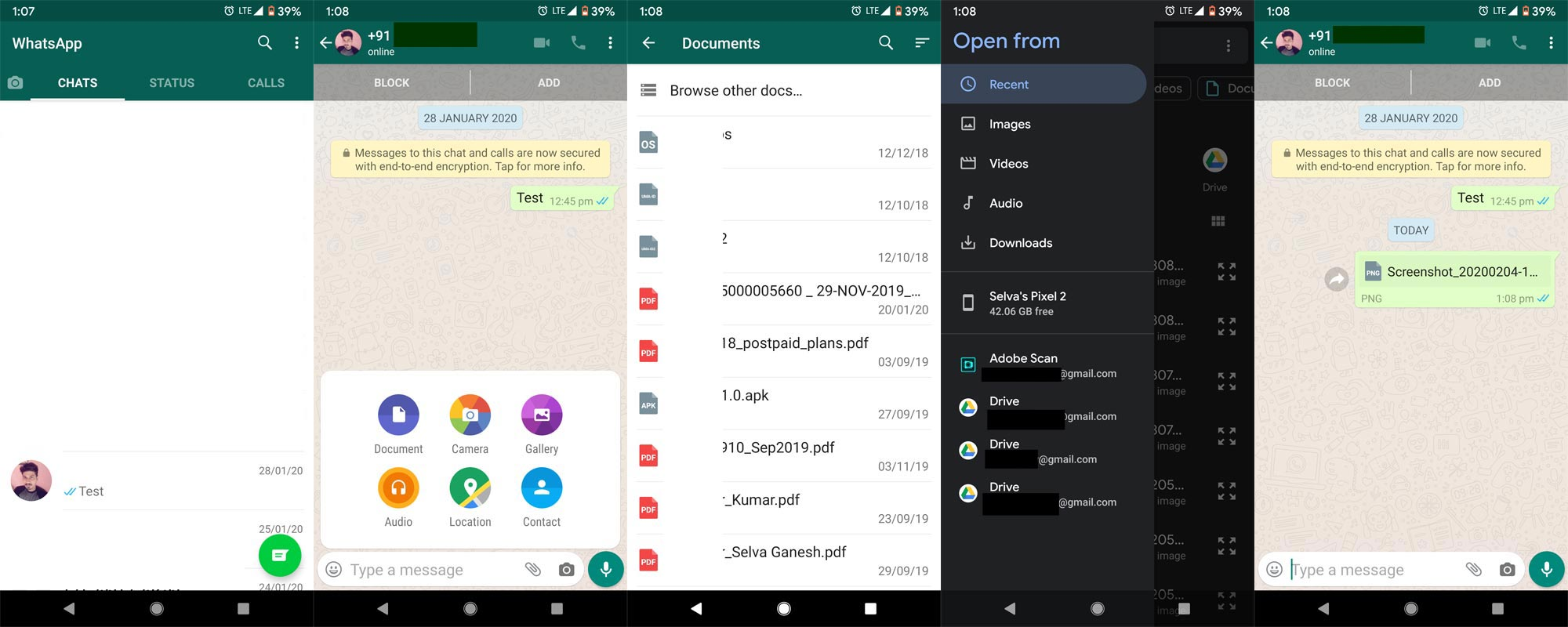 Send Original quality image as document in Whatsapp