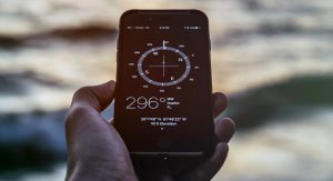 Android Mobile App Compass in Hand