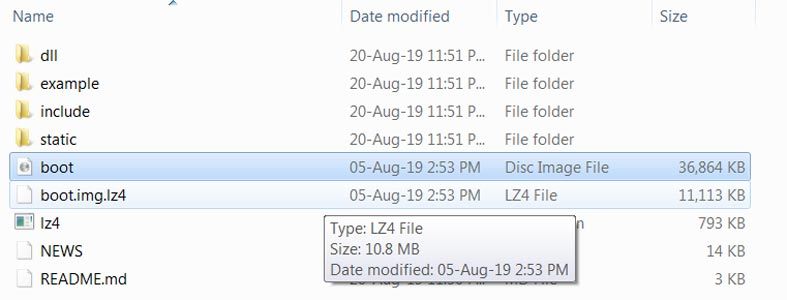 Convert lz4 file to img