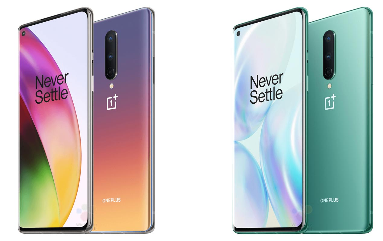 OnePlus 8 Pro IG Glow and Glacial Green Color Variants