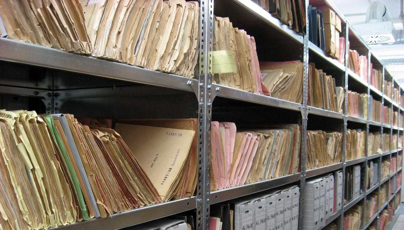 Paper Files in Storage Room