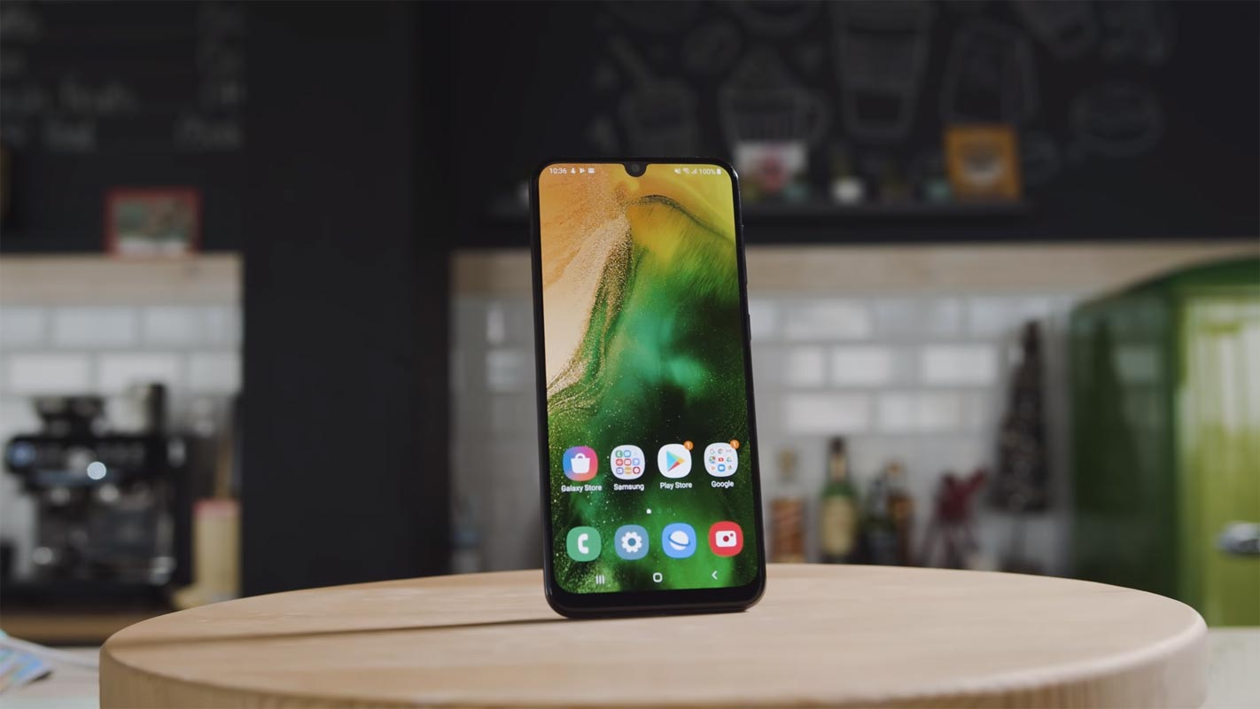 Samsung Galaxy A50 Front Side on the Table