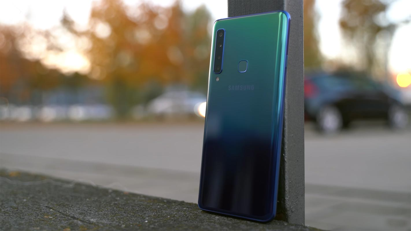 Samsung Galaxy A9 2018 Back Side View Outdoor