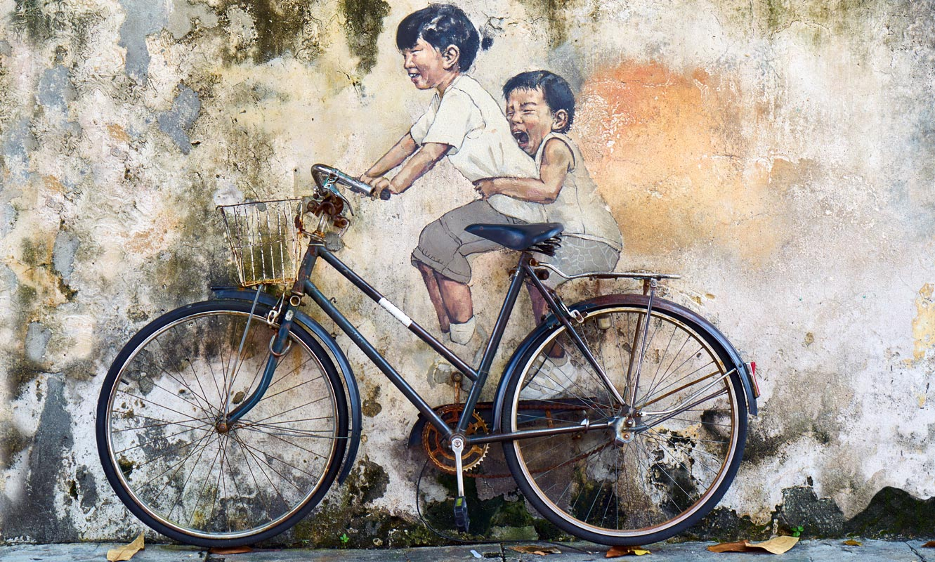 Boys Cycling Art