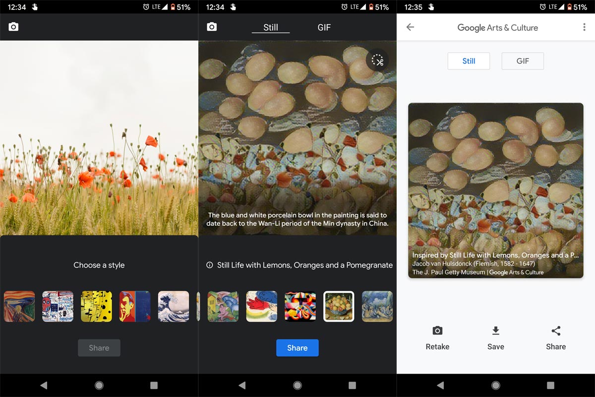 Google Arts Feature Converted Image