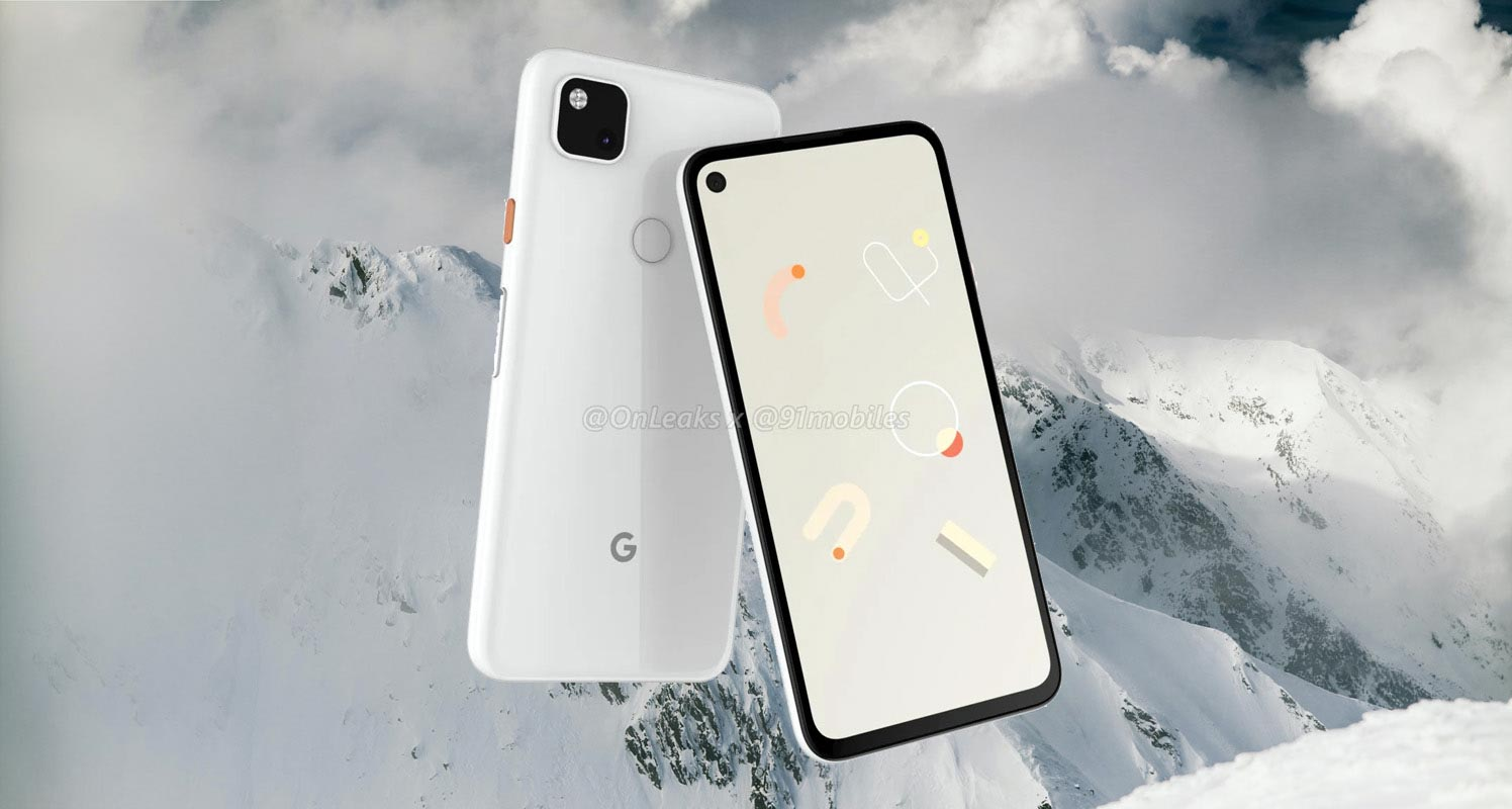 Google Pixel 4a With Snow Background