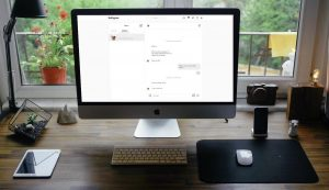 Instagram Direct Messages Page in Mac