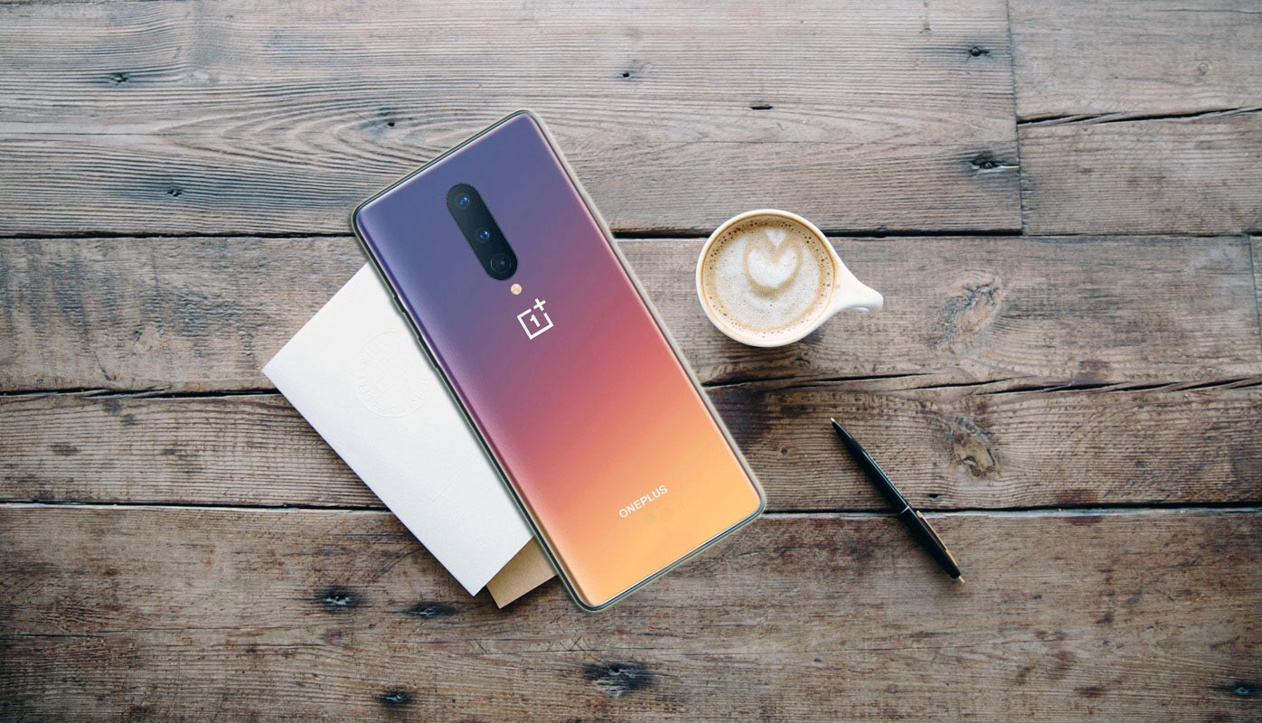 OnePlus 8 Back Side on the table
