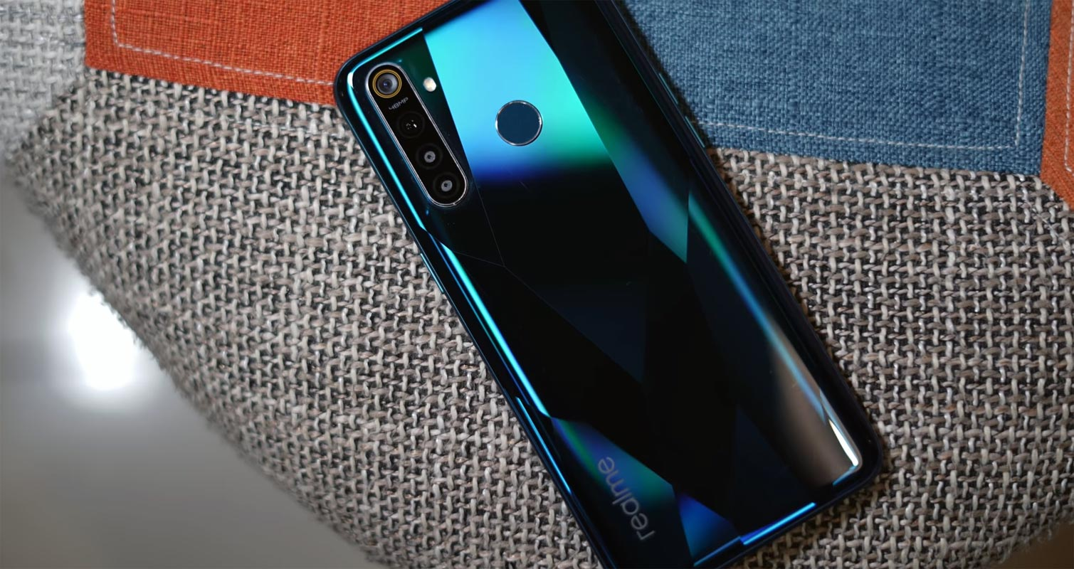 Realme 5 Pro Back Side on the Couch