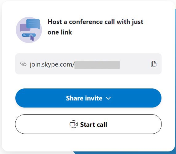 Skype Video Call Link creation