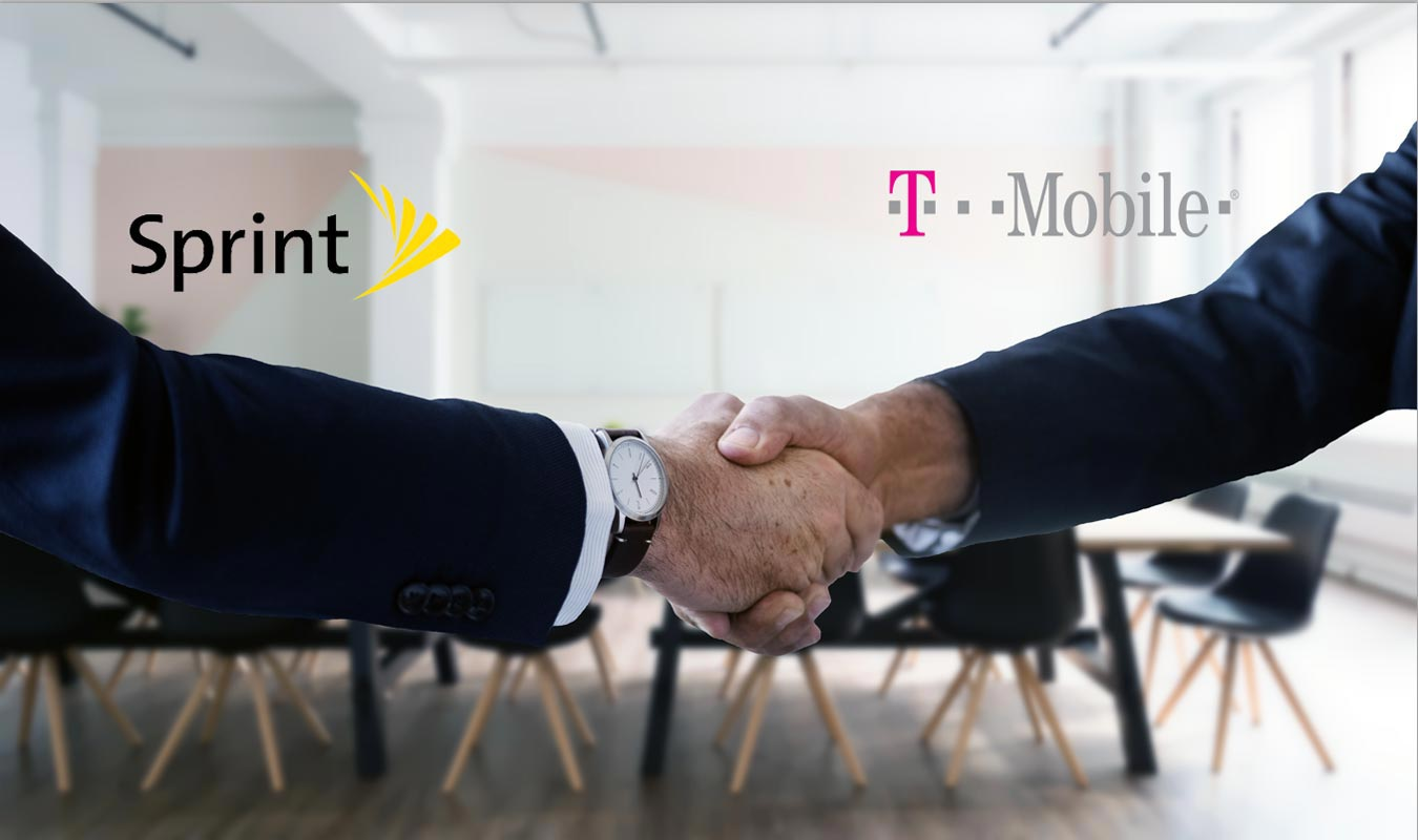 Sprint T-Mobile Merge Imagination Hand Shake