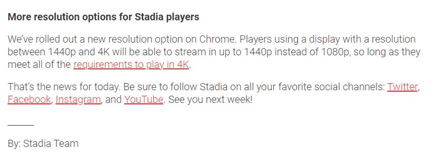 1440p Reolution Stadia Games in Google Chrome Official News